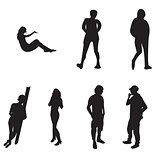 Silhoutte of young adults