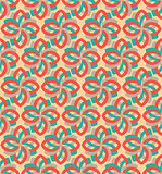 Retro flower geometric seamless pattern ornament