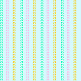 Painted wheat seamless pattern