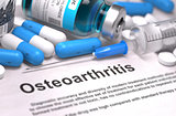 Osteoarthritis Diagnosis. Medical Concept.