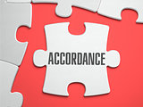 Accordance - Puzzle on the Place of Missing Pieces.