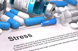 Stress Diagnosis. Medical Concept. Composition of Medicaments.