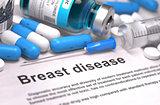 Diagnosis - Breast Disease. Medical Concept. 3D Render.