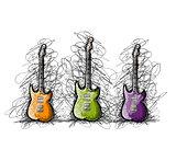 Set of guitars, sketch for your design