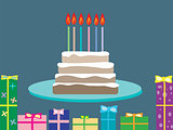 Cake birthday gifts holiday candles 6 years old
