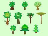 Trees ecology nature Park set