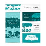 Business card design, tropical resort