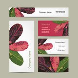 Business cards design, botanical theme