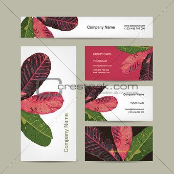 Business cards design, botanical theme