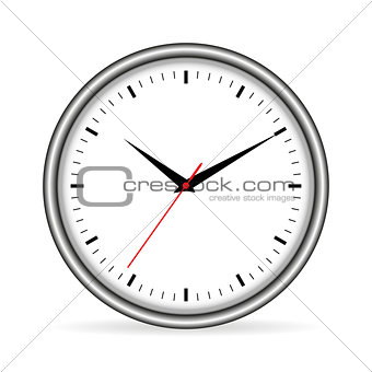 Time with shadow vector illustration