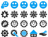 Settings and Smile Gears Icons