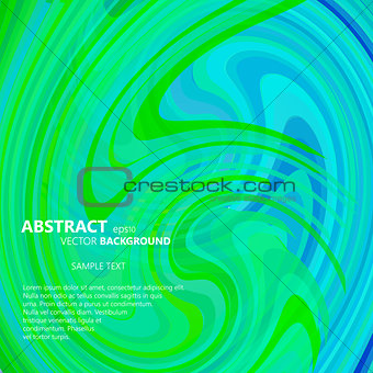 Abstract green and blue swirl