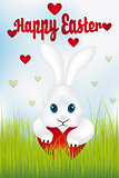 Easter bunny with heart - Happy Easter