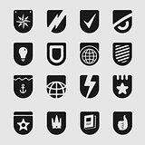Set Emblems Shield