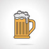 Glass of beer flat color vector icon