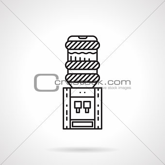 Flat line electric water cooler vector icon
