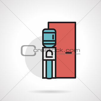 Flat line vector icon for water cooler