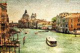 Venice retro picture. Grand channel