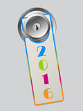 Rainbow color door hanger with 2016 text