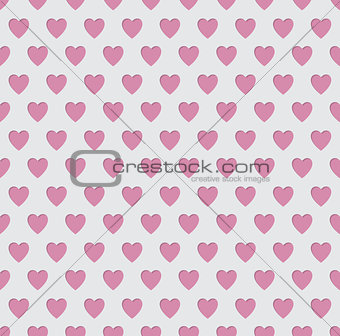 Tileable seamless pink heart pattern background