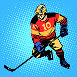 Hockey player number 10
