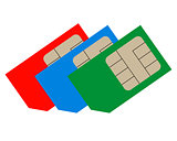 Three sim cards