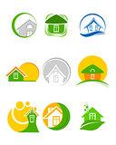 Nine logos set
