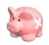 3d man with broken piggy bank