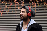 Young man with headphones.