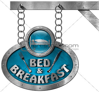 Bed and Breakfast - Sign with Chain