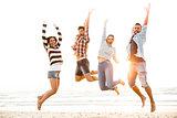 Friends jump