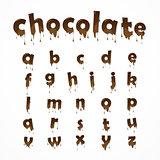 Melted chocolate alphabet