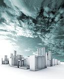 Sustainable city blueprint concept