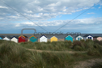 Beach Huts at Southwold, Suffolk, England