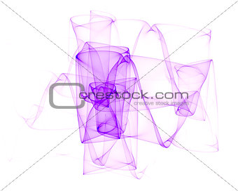 abstract violet wave element isolated on white