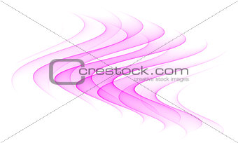 abstract pink wave element isolated on white