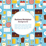 Flat Vector Business Workplace Background