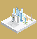 Vector 3d Flat Isometric With Internet Concept