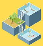 Water Pool Fun Concept