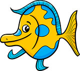 exotic fish cartoon illustration