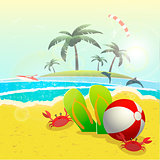 summer vacation design, vector illustration  graphic