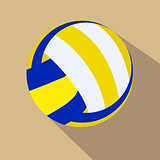 Volleyball. Single color flat icon. Vector illustration.