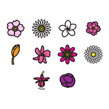 Flower icon set
