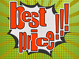 Best price comic speech bubble