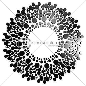 Black circle with dot