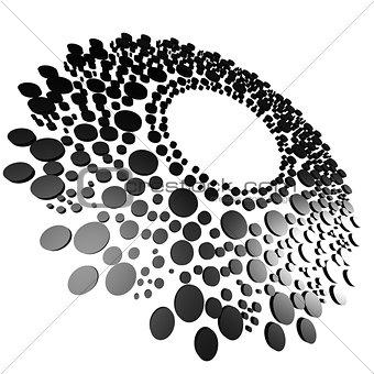 Black circle with dot