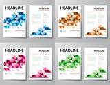 set of abstract business magazine cover , flyer, brochure flat d