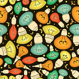 Light bulb seamless pattern