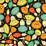 Light bulb seamless pattern