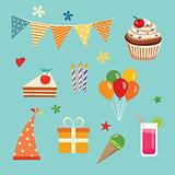 happy birthday party set